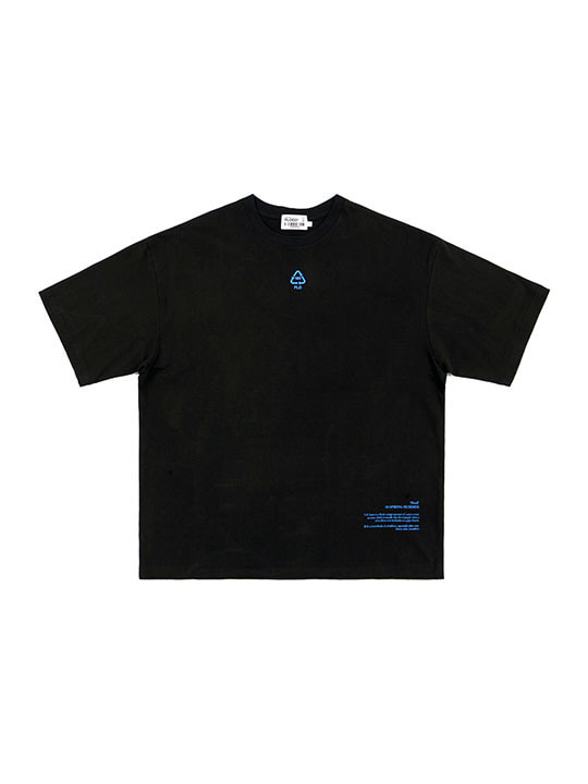 FLD RECYCLE 3M REFLECTIVE LOGO T-SHIRTS / BLACK