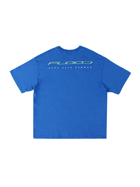 FLOOD AURA 2018 RACING LOGO T-SHIRTS / BLUE