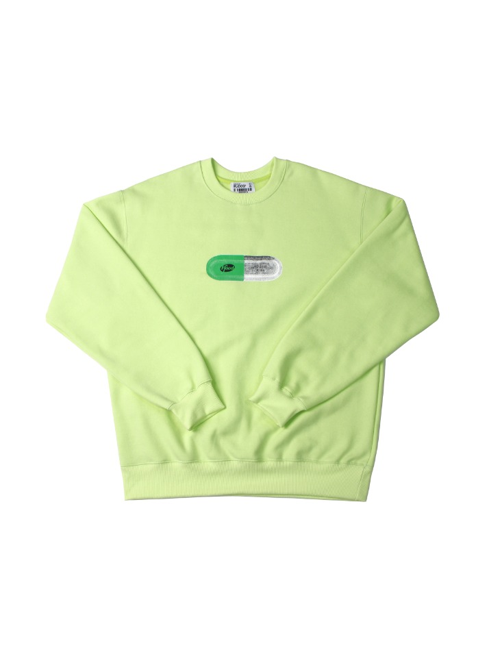 CHEMICAL FORMULA FLD LOGO SWEATSHIRTS / YELLOW GREEN