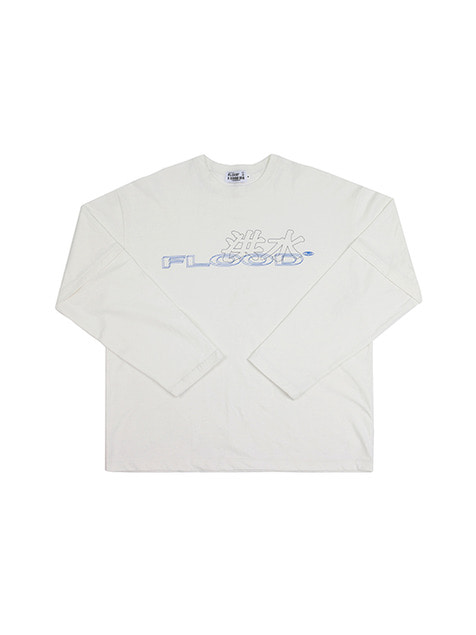 FLOOD 洪水 LOGO LONG SLEEVE / OFF WHITE