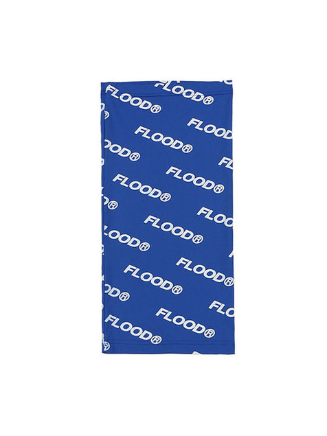 FLOOD PATTERN NECK WARMER / BLUE