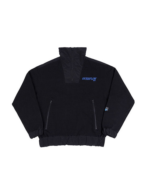 OVERFLOW LOGO ZIP-UP JACKET / BLACK