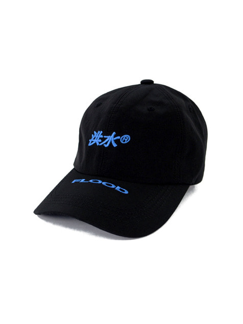 FLOOD 洪水 LOGO 6PANEL CAP / BLACK