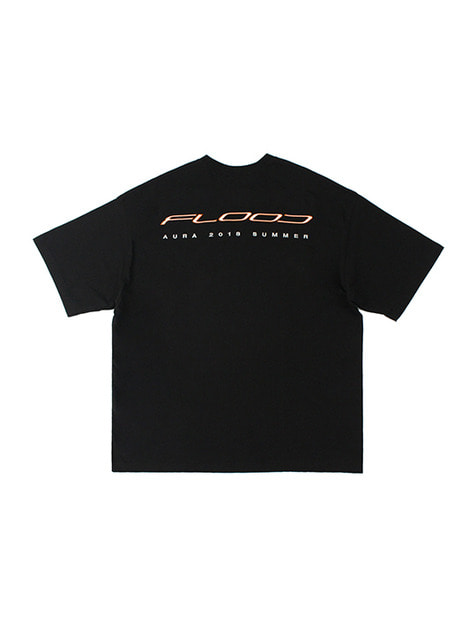 FLOOD AURA 2018 RACING LOGO T-SHIRTS / BLACK