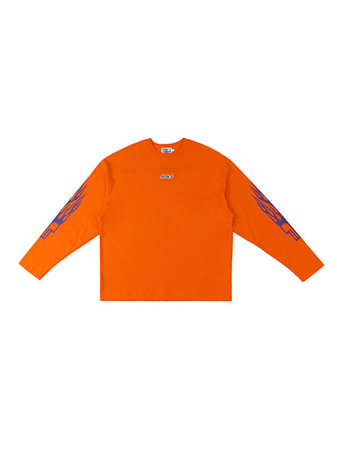 洪水 SS18 COLLECTION II LOGO LONG SLEEVE / ORANGE