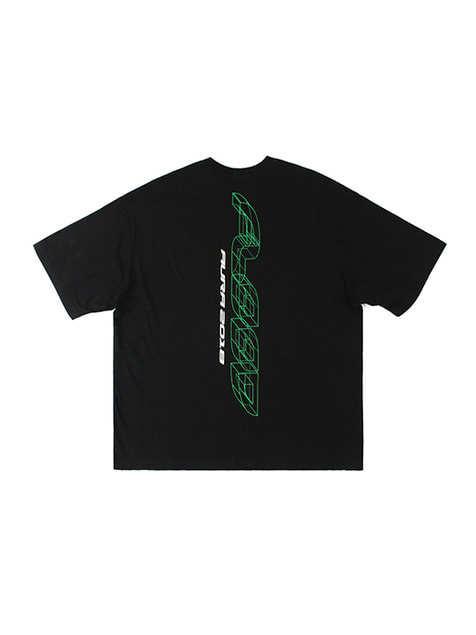 FLOOD AURA 2018 LASER LOGO T-SHIRTS / BLACK