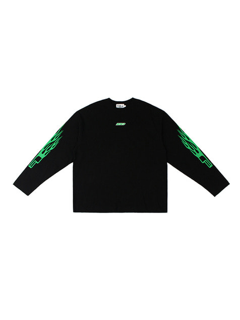 洪水 SS18 COLLECTION II LOGO LONG SLEEVE / BLACK