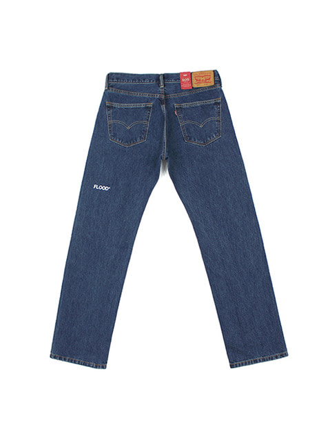 LEVI'S X FLOOD LOGO 505 DENIM PANTS / BLUE