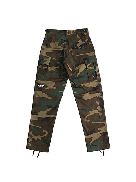 ROTHCO X FLOOD LOGO CARGO PANTS / WOOD CAMO