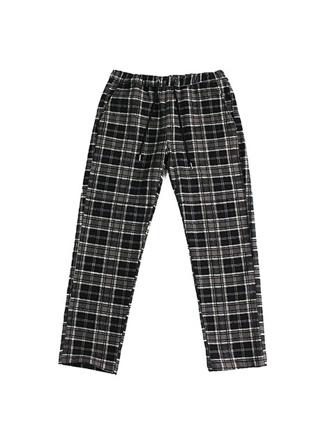 TARTAN CHECK PANTS / BLACK