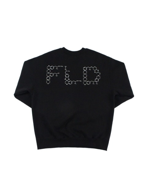 CHEMICAL FORMULA FLD LOGO SWEATSHIRTS / BLACK